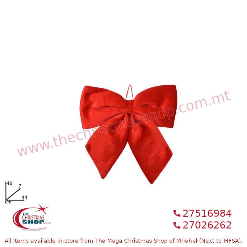 RED VELVET BOW 44CM. DE957406