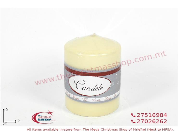 CREAM COLOURED CANDLE. DE347355