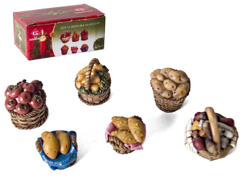 SET OF 6 FOOD BASKETS FOR CRIB. GE252232