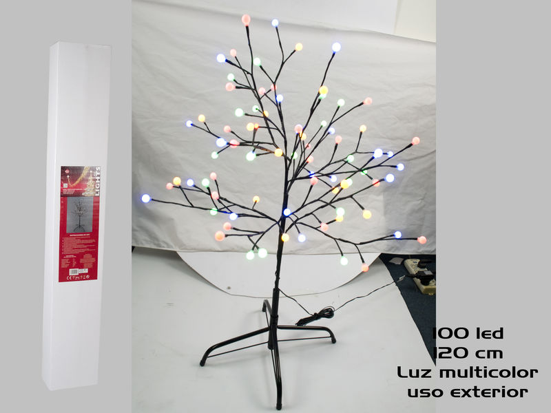 MULTICOLOUR 120 CMS XMAS TREE .INDOOR AND OUTDOOR USE. GE495578