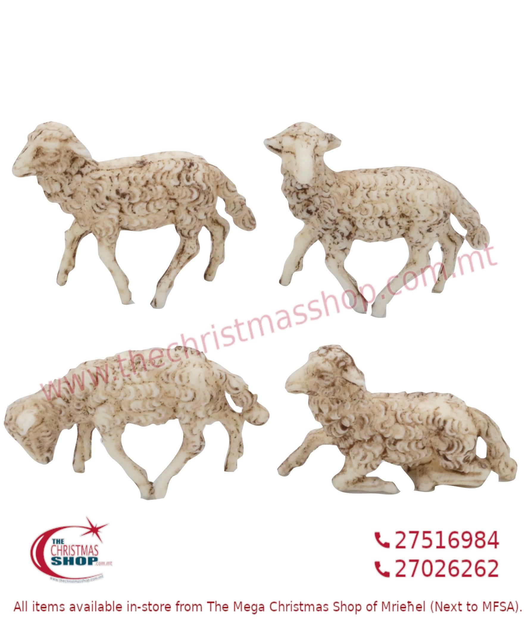 PACKET OF 12 SHEEP FOR CRIB. EMG1103-E