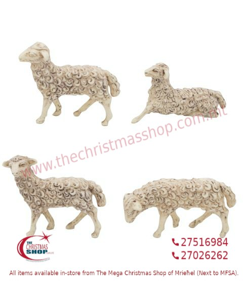 SET OF 4 SHEEP FOR CRIB. EMG1104-E