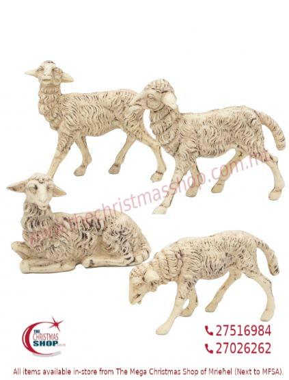 SET OF 4 SHEEP FOR CRIB. EMG1106-E