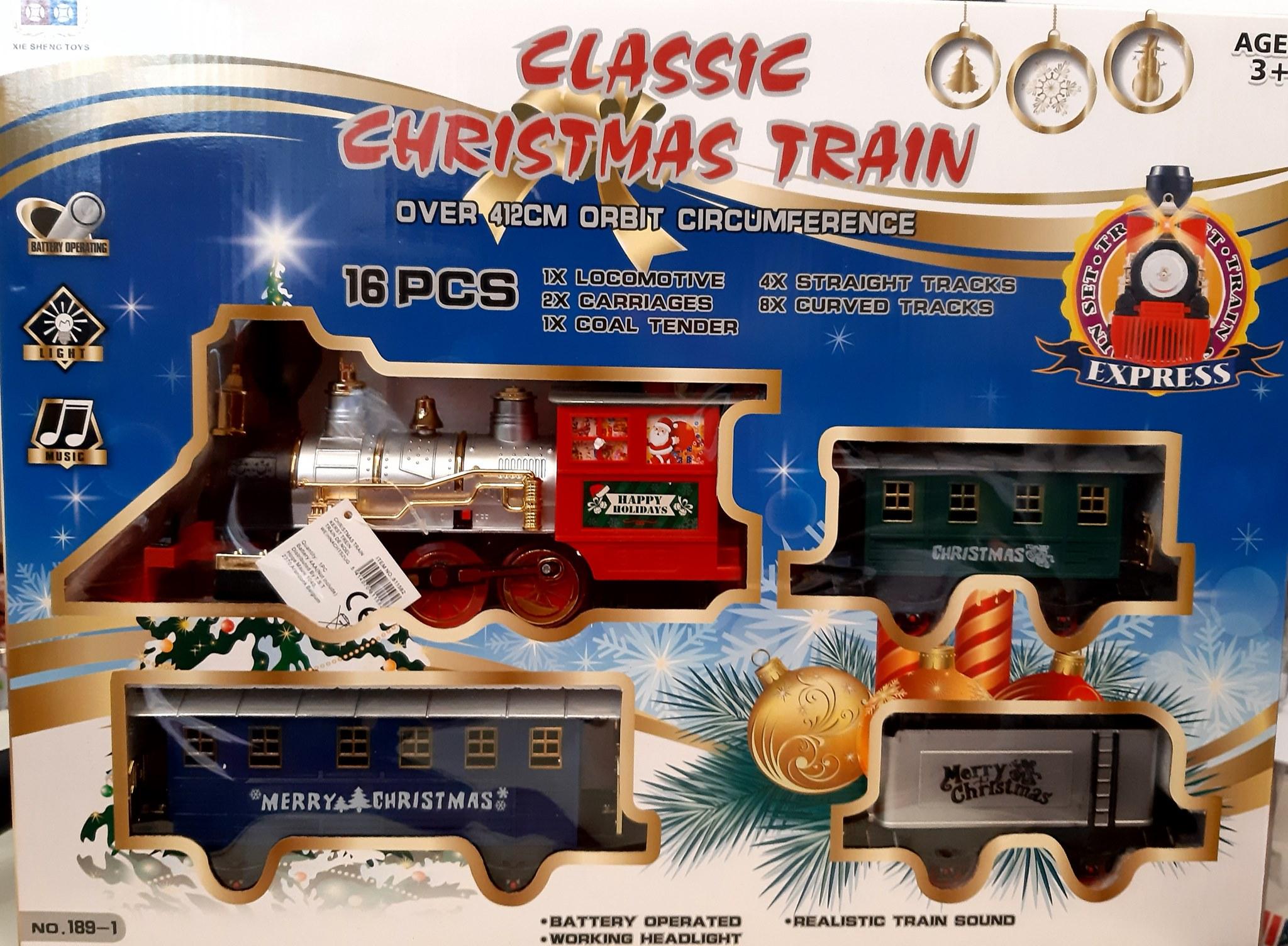 CLASSIC CHRISTMAS TRAIN 16 PCS OVER 412CM 811582