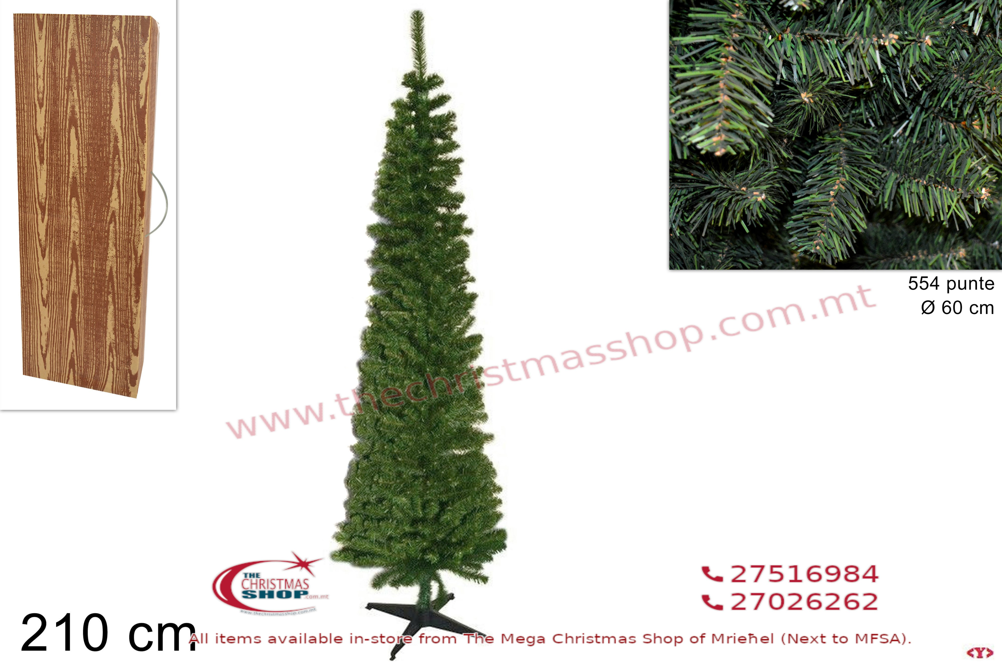 CHRISTMAS TREE ALBERO SLIM. 210CMS. DE215544