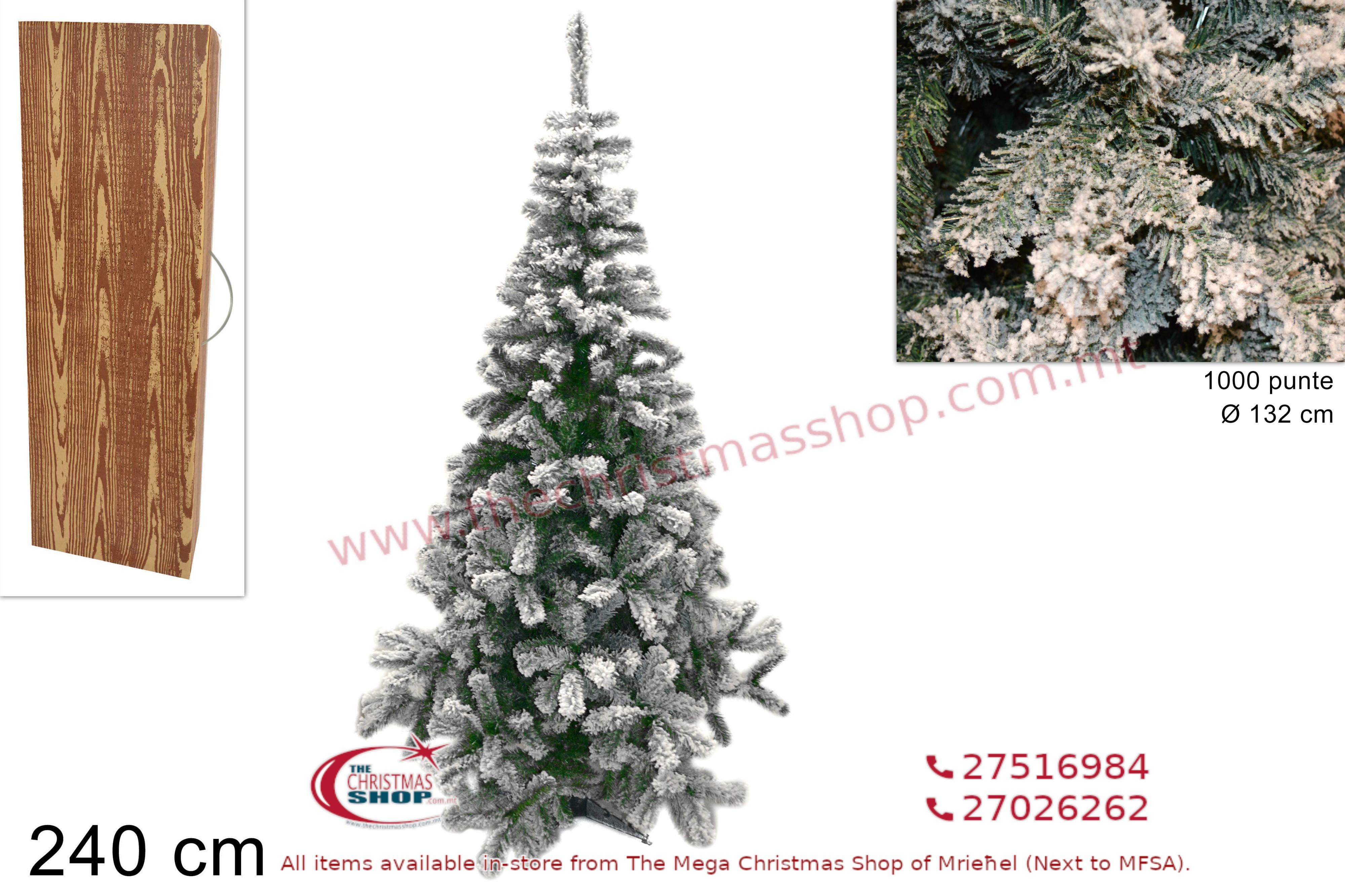 CHRISTMAS TREE LAPPONIA INNEVATO. 240CMS. DE427640