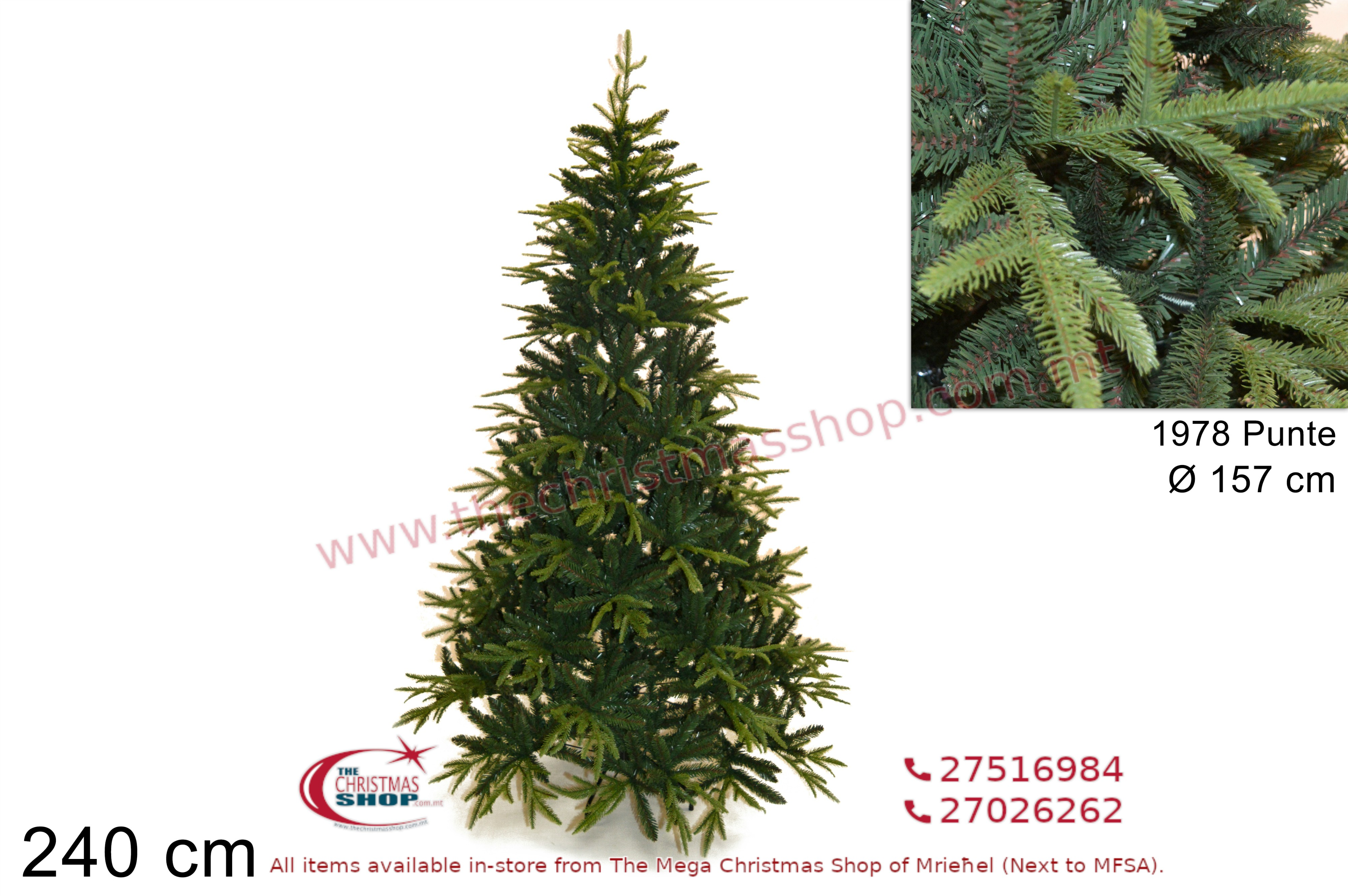 CHRISTMAS TREE ABETE XMAS. 240CMS. DE694240
