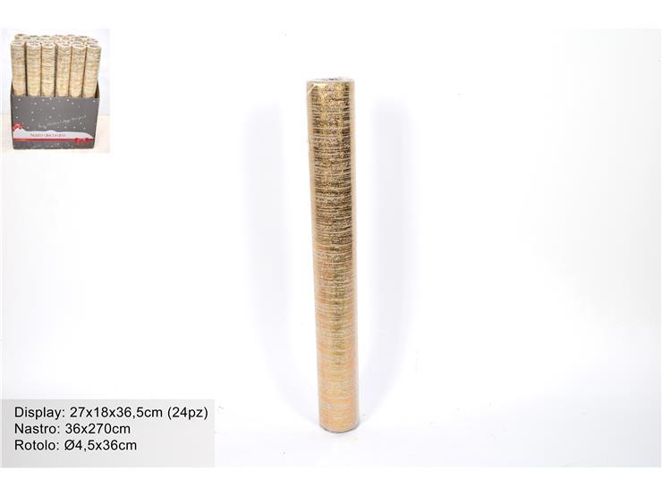 BEIGE RIBBON WITH GOLDEN DESIGN. DE796203