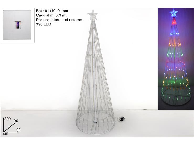 300 CMS LIGHT UP LED CHRISTMAS TREE FOR OUTDOOR USE. DE830549