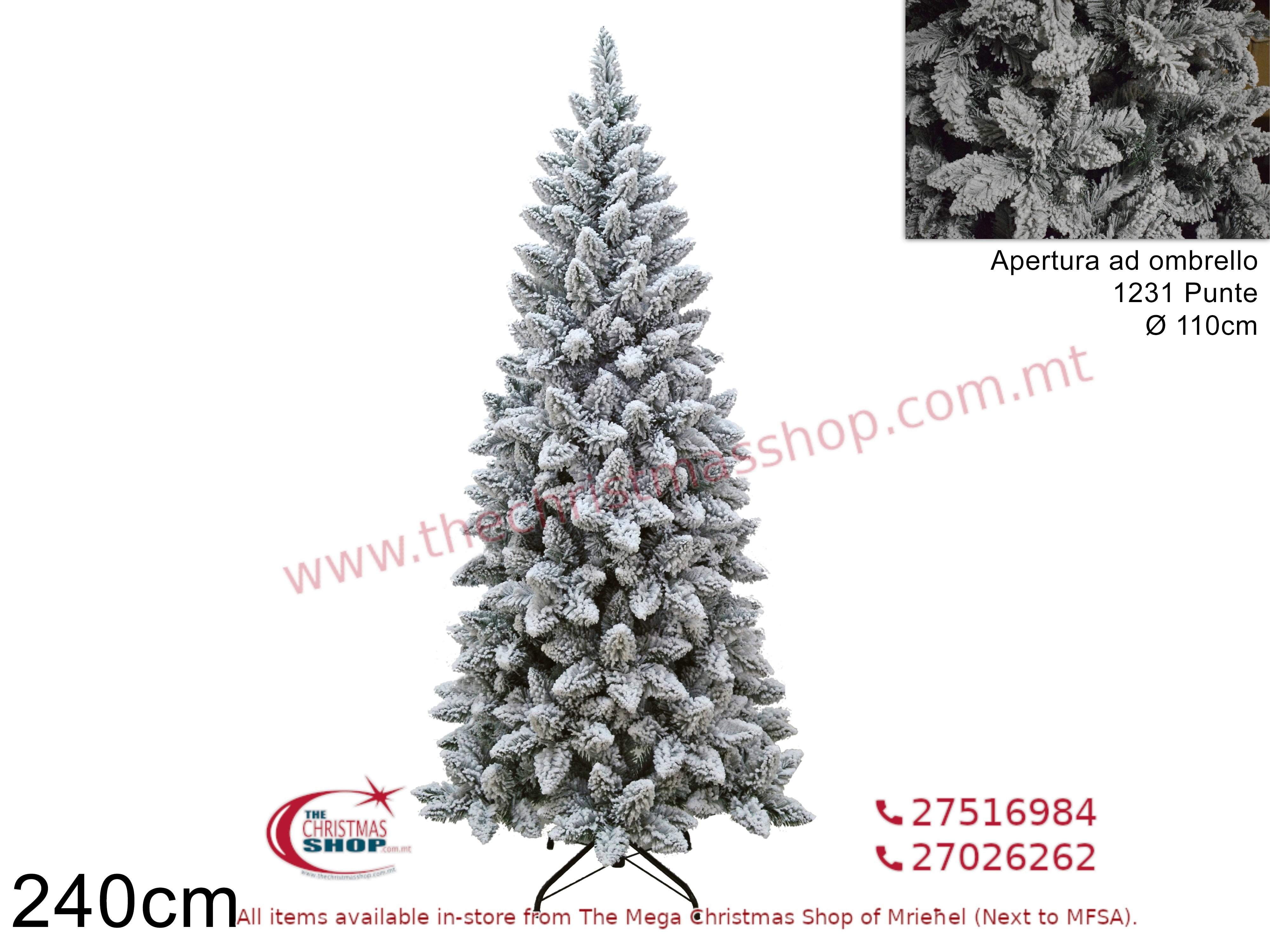 CHRISTMAS TREE INNEVATO ALASKA 240CMS. DE025803