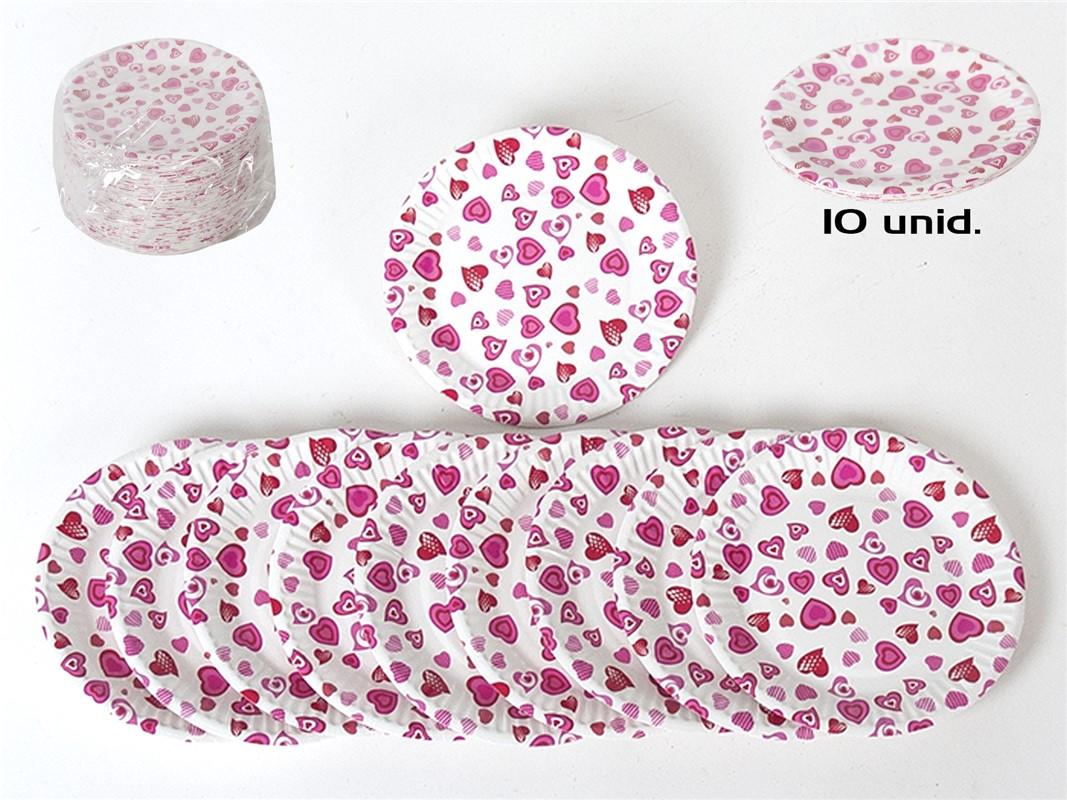 10PCS – I LOVE YOU PAPER PLATES. 15CMS. GE818643