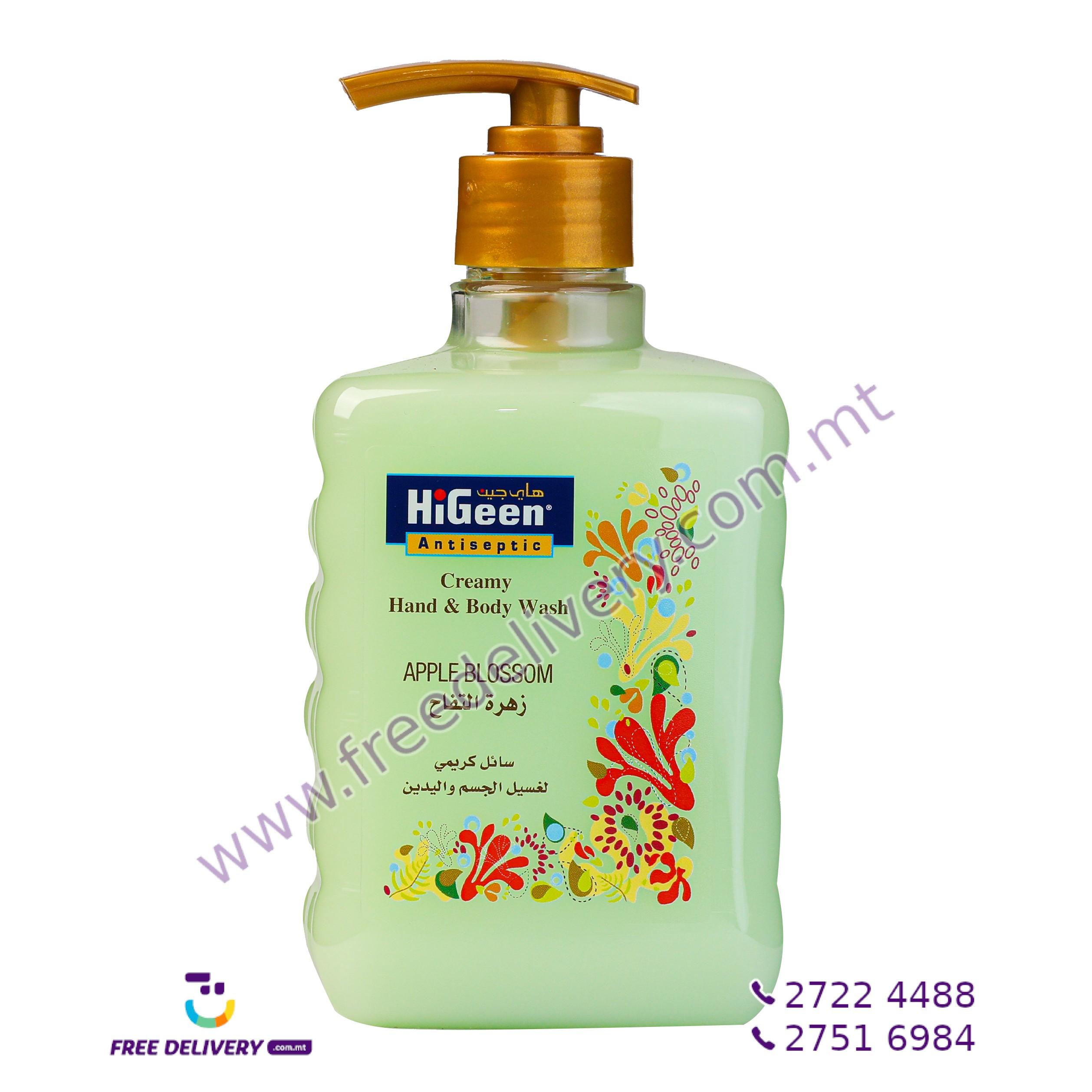 HIGEEN CREAMY HAND & BODY WASH APPLE BLOSSOM 500ML HI003165