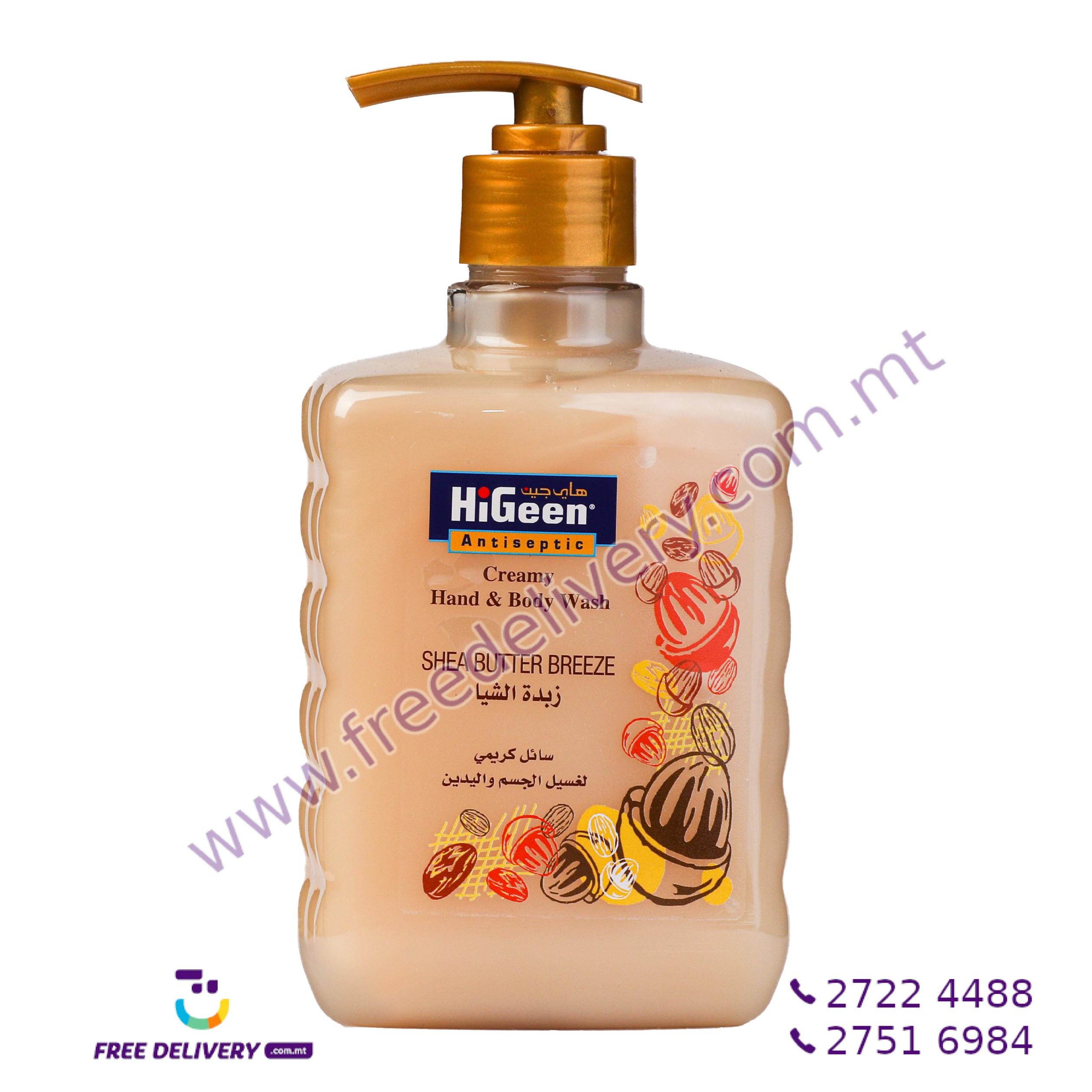 HIGEEN CREAMY HAND & BODY WASH SHEA BUTTER BREEZE 500ML HI003196