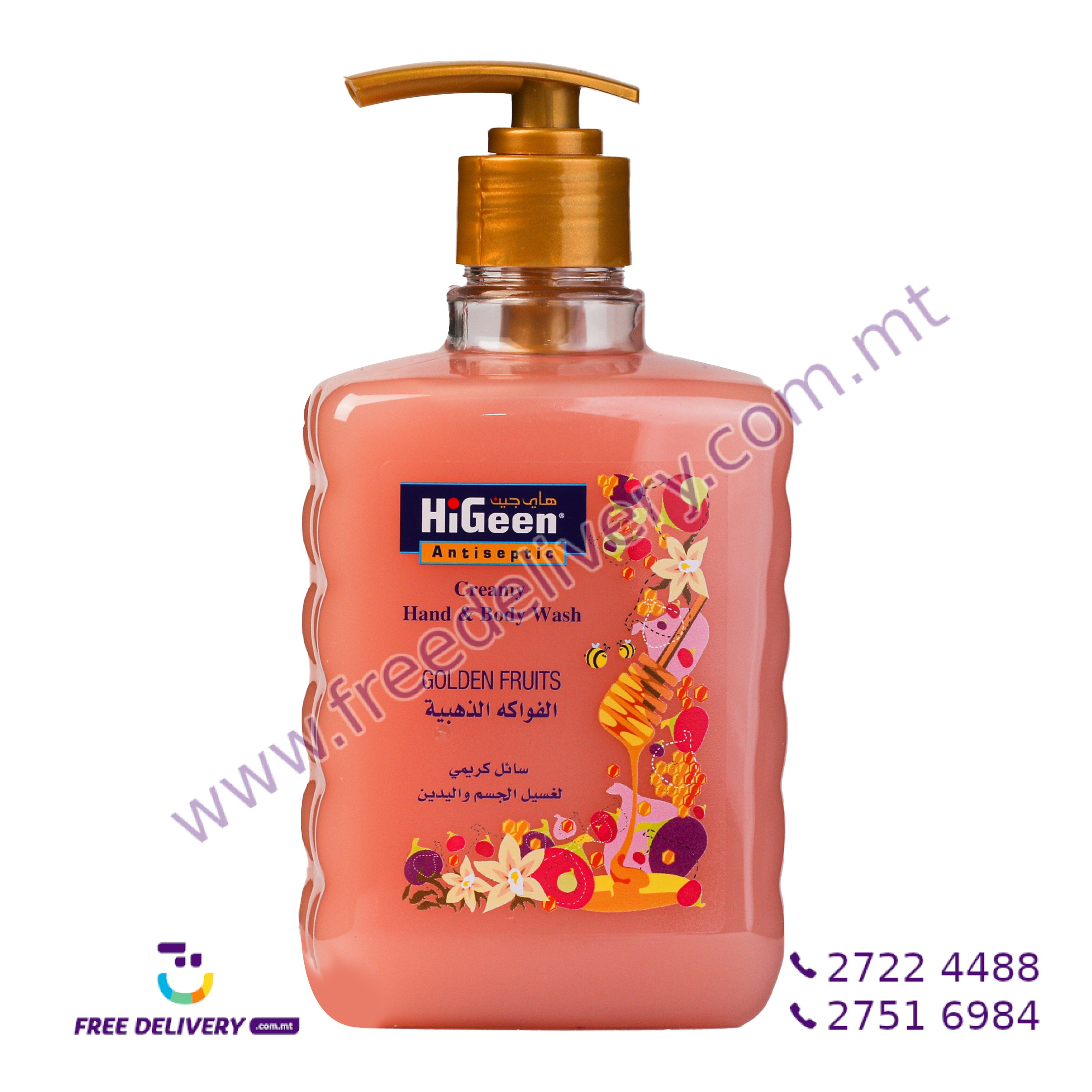 HIGEEN CREAMY HAND & BODY WASH GOLDEN FRUITS 500ML HI003172