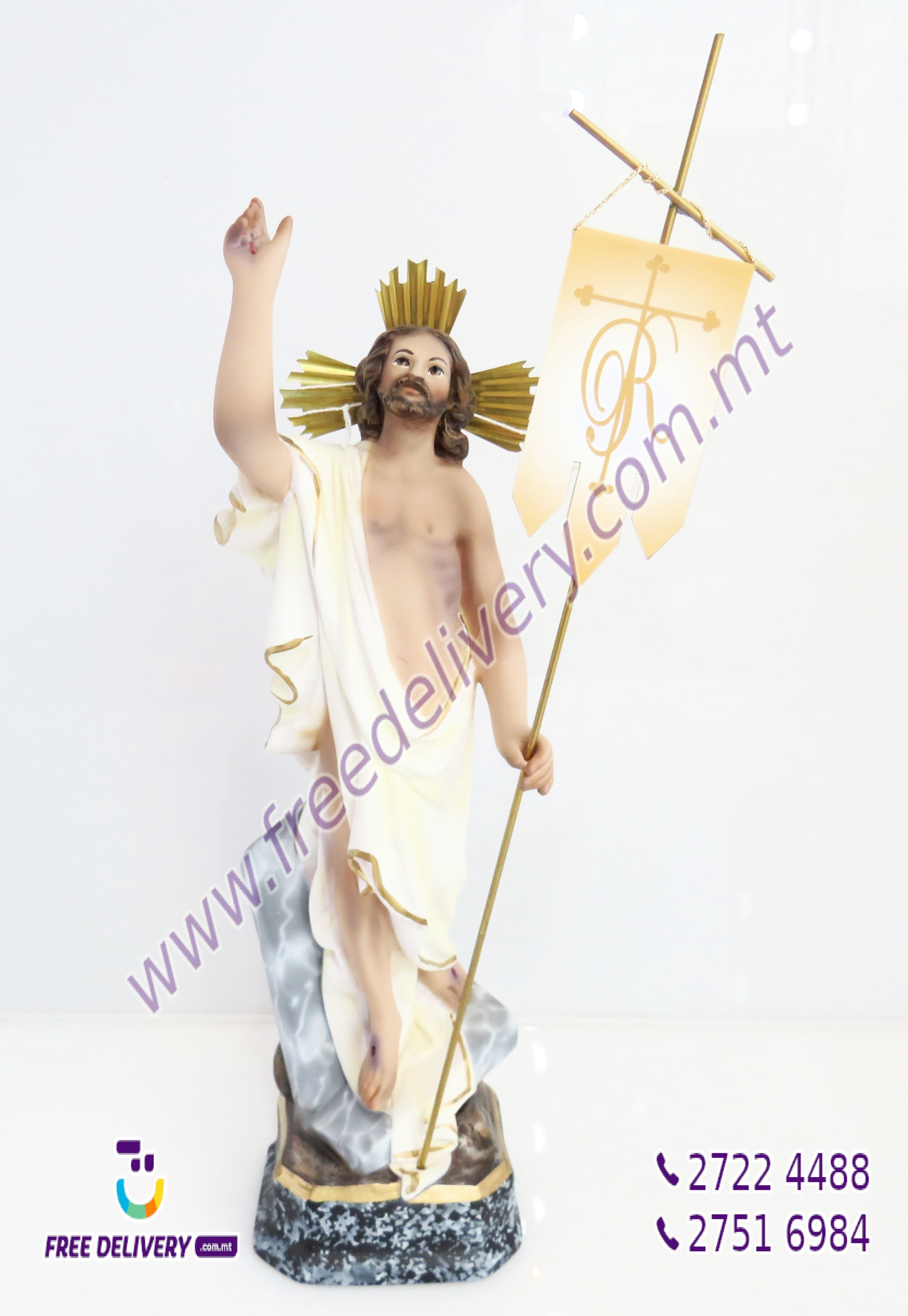 """RXOXT"". CHRIST THE RISEN LORD. SUPERIOR FINISH. 35CMS"