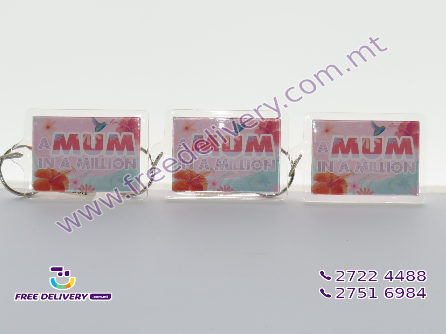 A MUM IN A MILLION KEYCHAIN 6 X 4.5CM – MISC066553