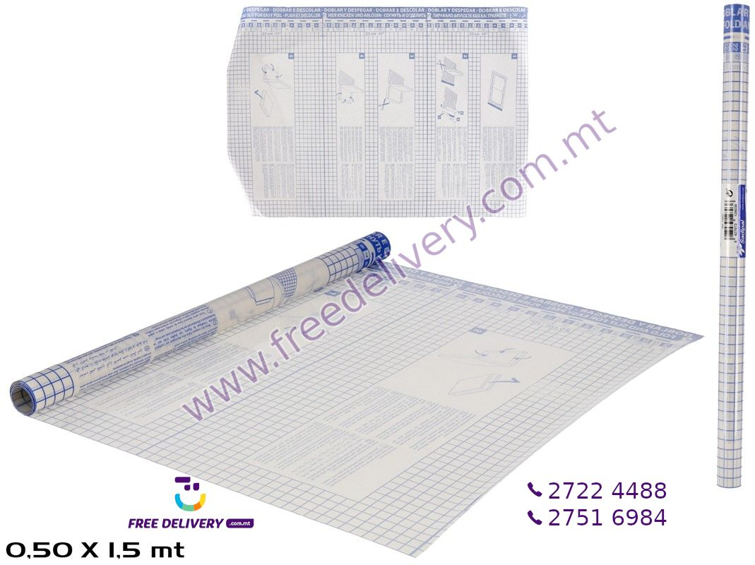ADHESIVE BOOK LINER 1.5 X 0.5M – GE128036