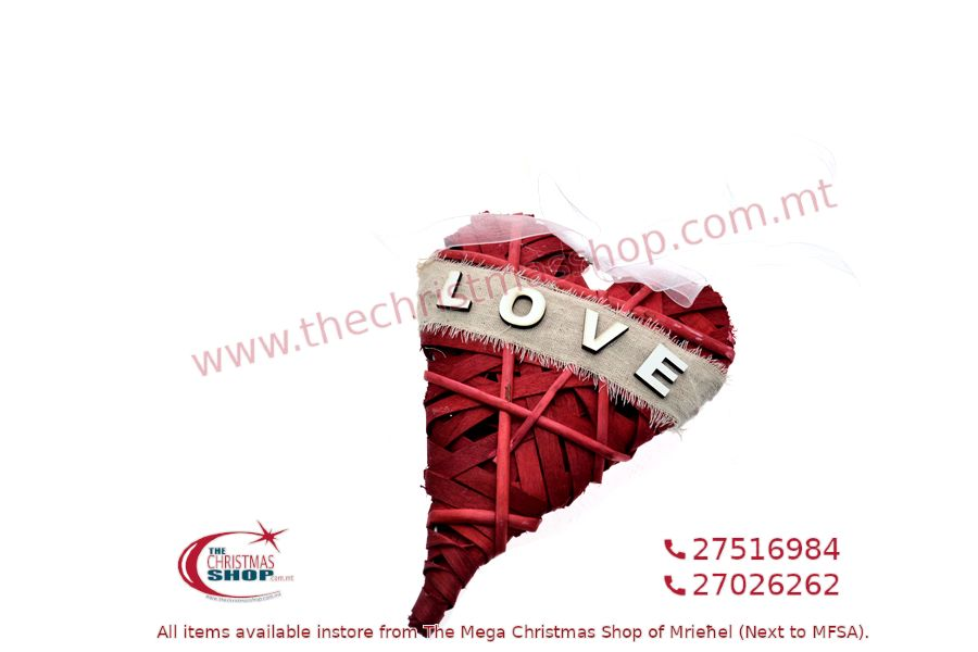 HANGING HEART 14CM RED. PAR226803