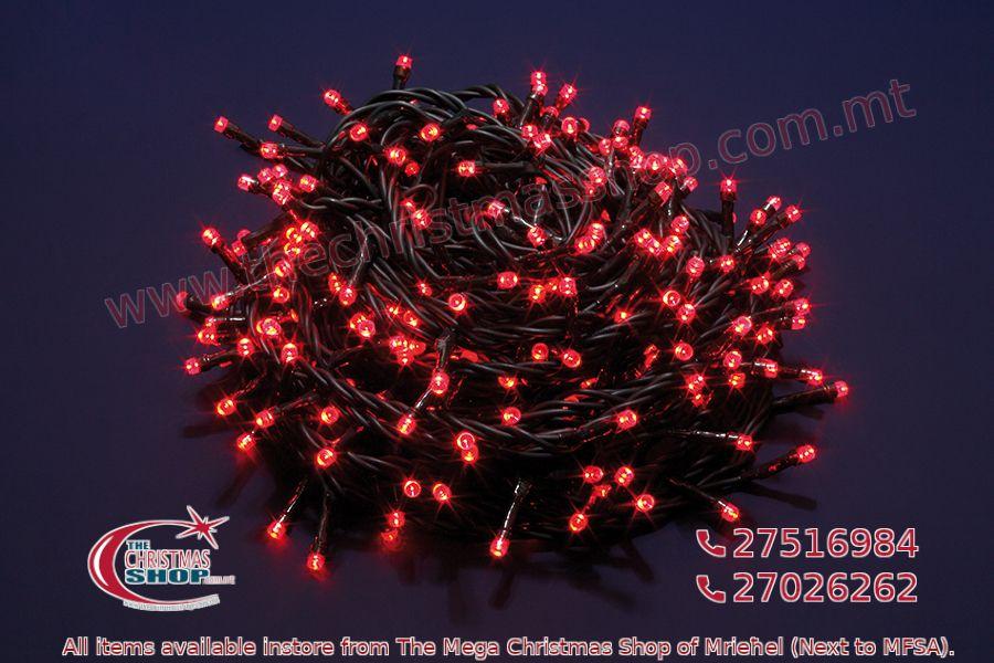 500 LED STRING OUTDOOR/INDOOR FAIRY LIGHTS RED. PAR567992