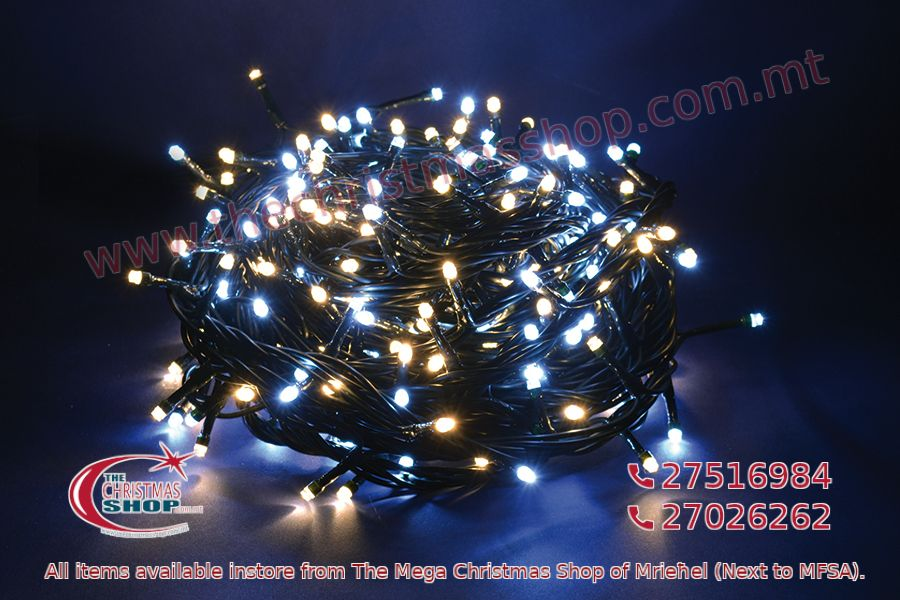 500 LED STRING OUTDOOR/INDOOR FAIRY LIGHTS WHITE/WARM WHITE. PAR568029