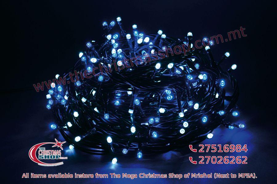 1000 LED STRING OUTDOOR/INDOOR FAIRY LIGHTS WHITE/BLUE. PAR568210