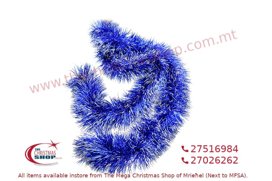 2M. D15CM CHRISTMAS TINSEL GARLAND FOR CHRISTMAS TREE AND HOME DECORATIONS (BLUE). PAR699914