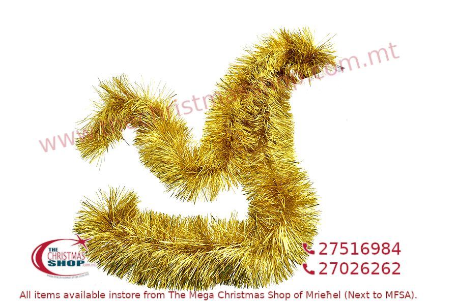 2M. D13CM CHRISTMAS TINSEL GARLAND FOR CHRISTMAS TREE AND HOME DECORATIONS (GOLD). PAR701419