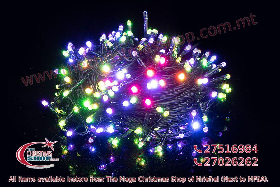 100 LED STRING OUTDOOR FAIRY LIGHTS MULTI COLOUR 5+5M. PAR514237