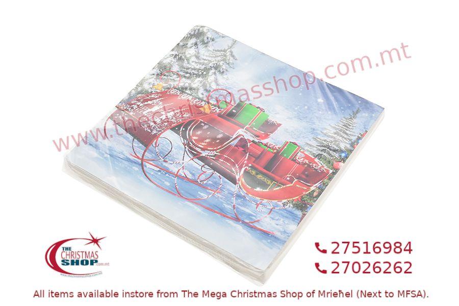 20 CHRISTMAS PAPER NAPKINS 33X33CM. PAR895118