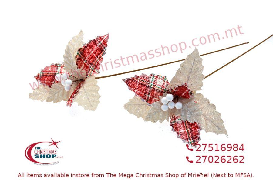 CHRISTMAS DECORATIONS LONG STEM FLOWER. PAR368879
