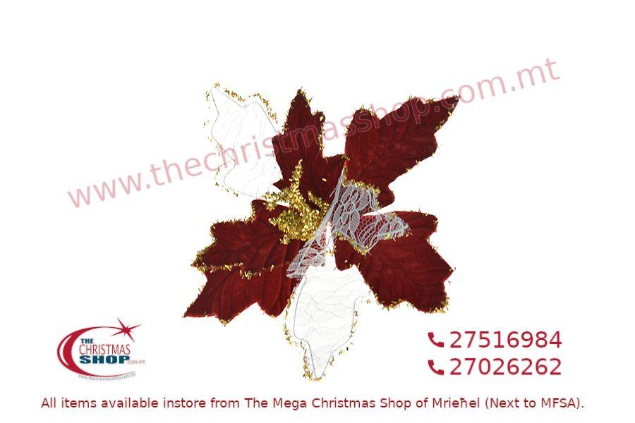 CHRISTMAS DECORATIONS FLOWER WITH CLIP. PAR571569