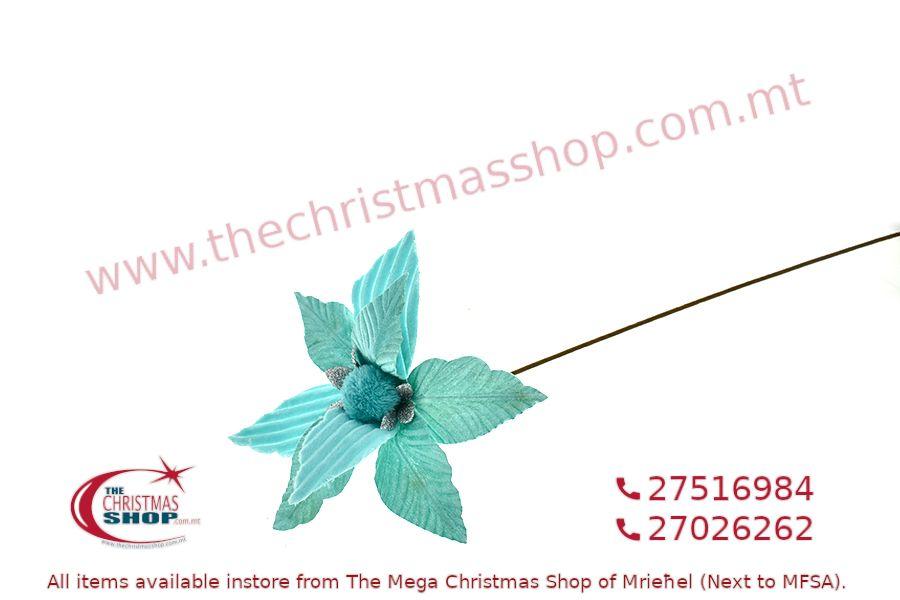 CHRISTMAS DECORATIONS LONG STEM FLOWER. PAR316408