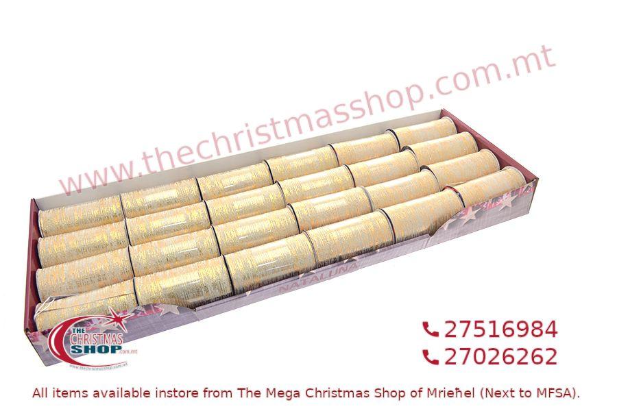 CHRISTMAS RIBBON GOLD 3CM X2M. PAR256902