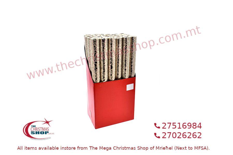 CHRISTMAS WRAPPING PAPER GOLD 48CM X 2M. PAR545822