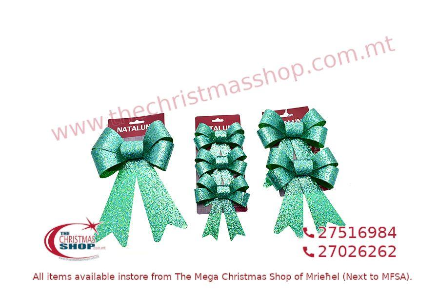CHRISTMAS DECORATION GREEN BOWS. PAR546027