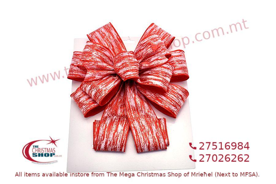 CHRISTMAS DECORATION RED BOW 11 X 31CM. PAR546652