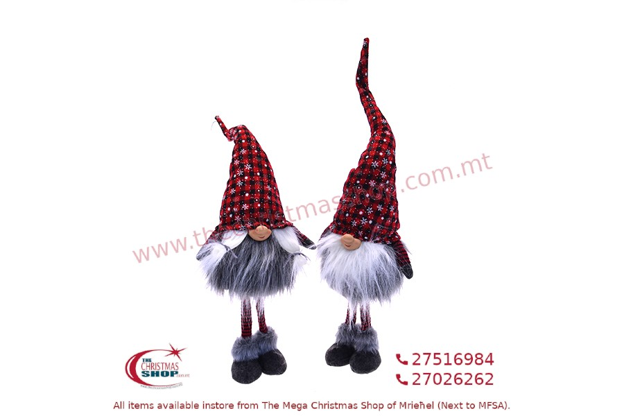 CHRISTMAS GNOMES 15x13x67CM. PAR04862