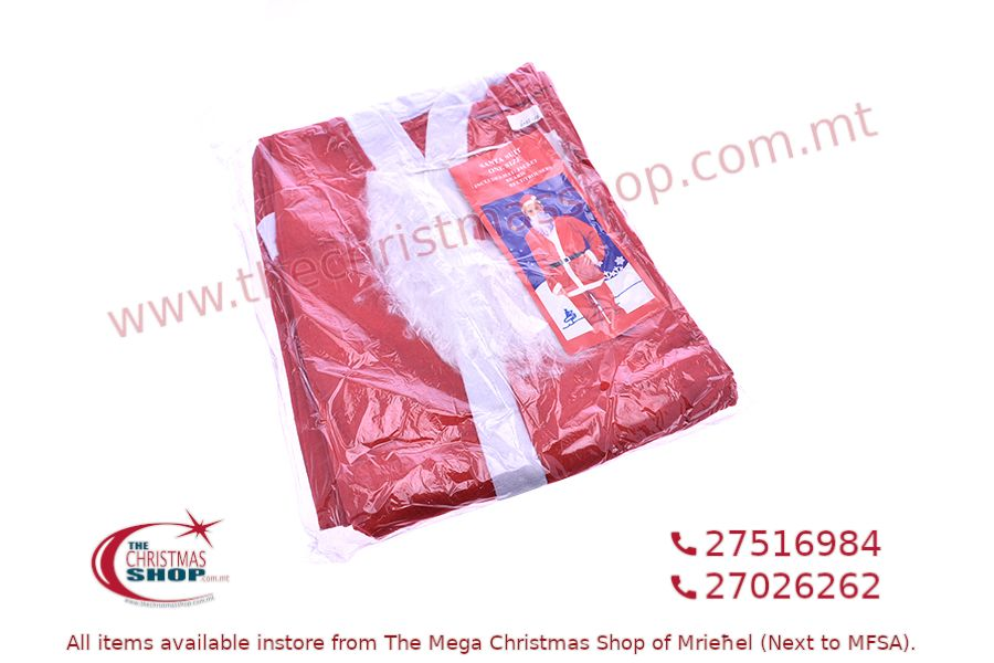 ADULT FATHER CHRISTMAS COSTUME – ONE SIZE. PAR363259