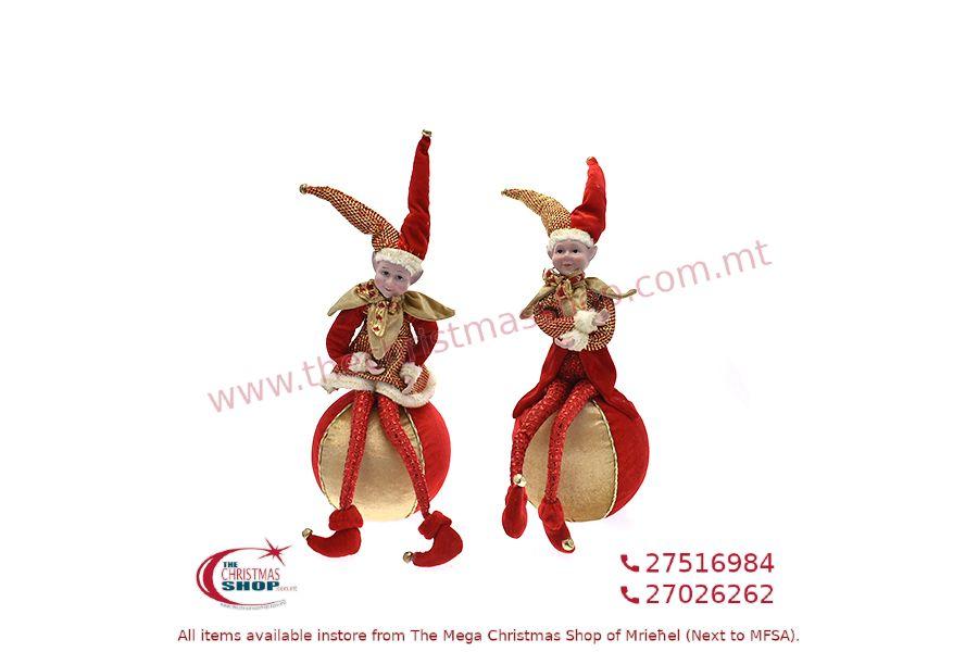 CHRISTMAS DECORATIONS ELF 40CM. PAR696708